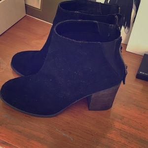 Urban outfitters black suede booties